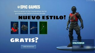 """How to get the new """"Nvidia"""" skin style // unlockable style // #fortnite #argentina"""