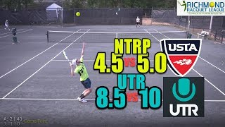 NTRP 5.0 (UTR-10) Tennis Highlights - Andrew vs Jeremy Curtis