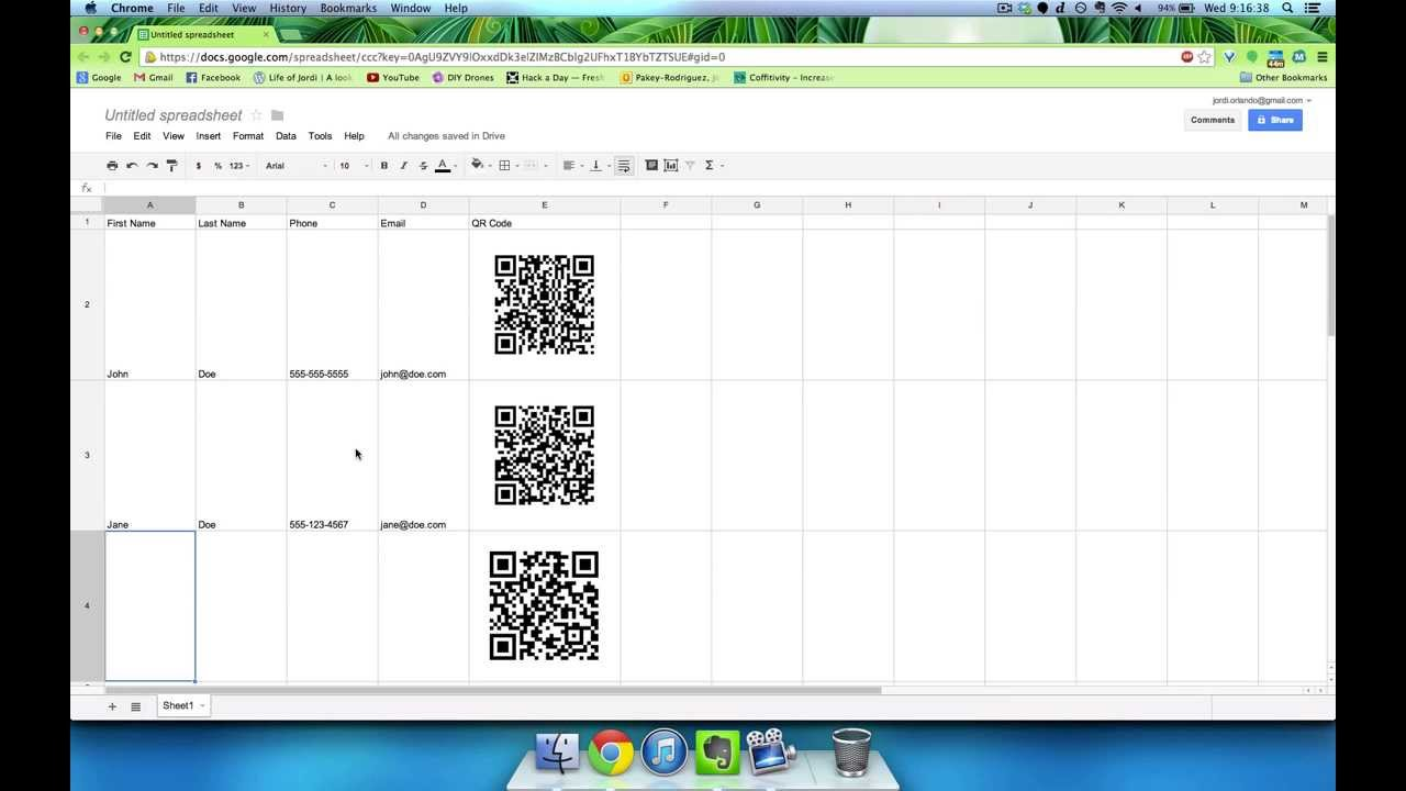 Google Docs And QR Codes