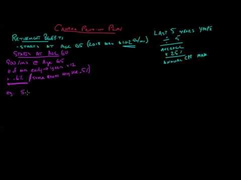 CPP Retirement Benefit Calculation