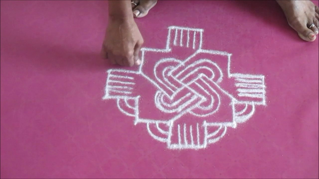 easy apartment kolam with dots 16 5 2017 - youtube