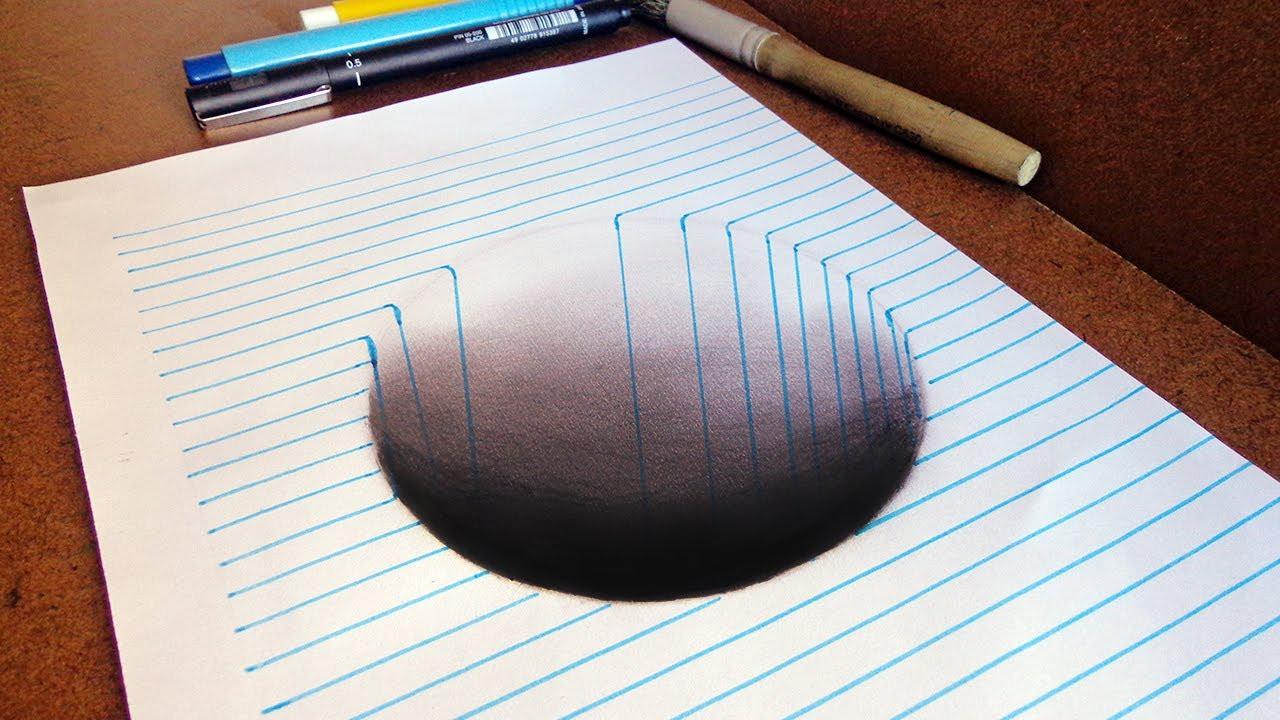Como Desenhar Buraco Efeito 3d   Manual De Um Desenhista