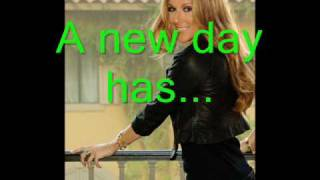 Celine Dion A New Day Has Come with Lyrics !