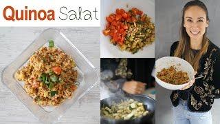Quinoa Salat - Kalorienarmes veganes Mittagessen - Gesunde Mahlzeit - Abnehmen ohne Diät