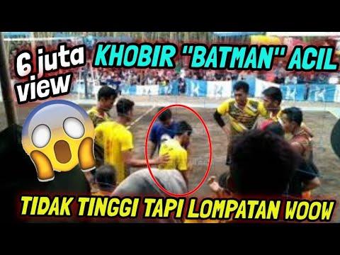 Detik2 si penomenal Khobir Acil 'BATMAN' masuk lapangan dan berbuat 'ULAH' mengejutkan penonton