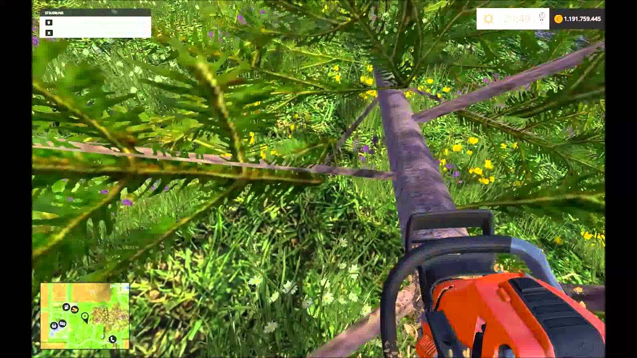 farming simulator 2015 tree cut down with chainsaw baum f llen mit kettens ge youtube. Black Bedroom Furniture Sets. Home Design Ideas