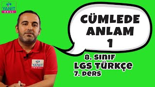 Cümlede Anlam 1 | 2021 LGS Türkçe Konu Anlatımları #8trkc