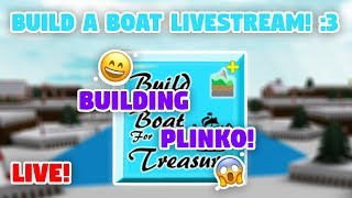 BUILDING THE PLINKO ARCADE MACHINE!! (LIVE) 😆😄 - Build a Boat For Treasure ROBLOX