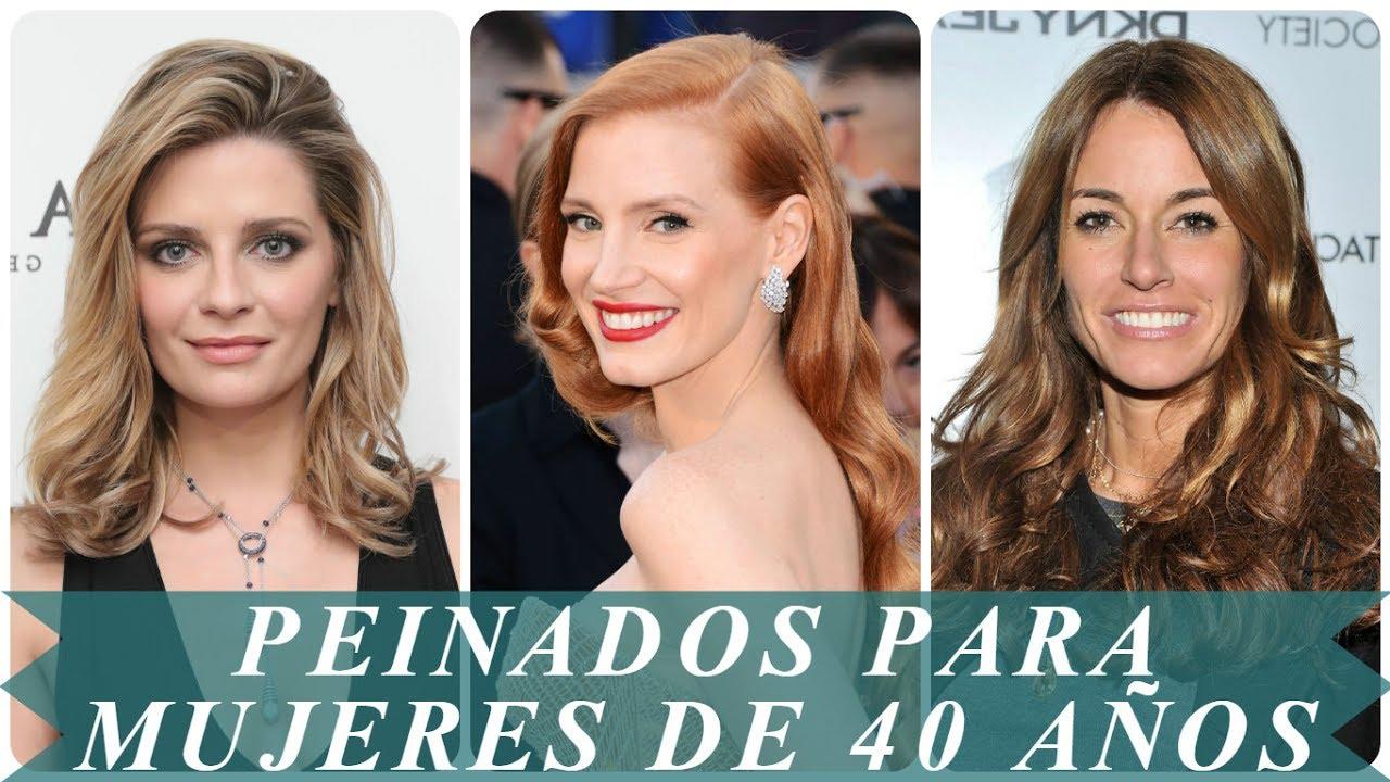 Cortes y peinados para mujeres de 40