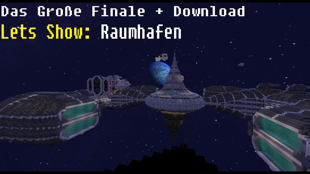 Lets Show Minecraft Raumhafen Teil Spacestation Download - Minecraft grobe hauser download