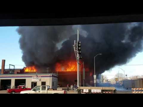 Fire at BG&S Hastings, NE 2/17/2017