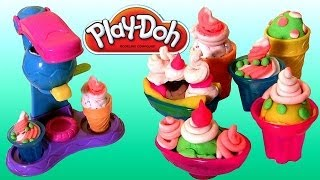 Play Doh Double Treat Ice Cream Set Banana Split & Sundae Sweet Shoppe Desserts 'n Treats By Funtoys