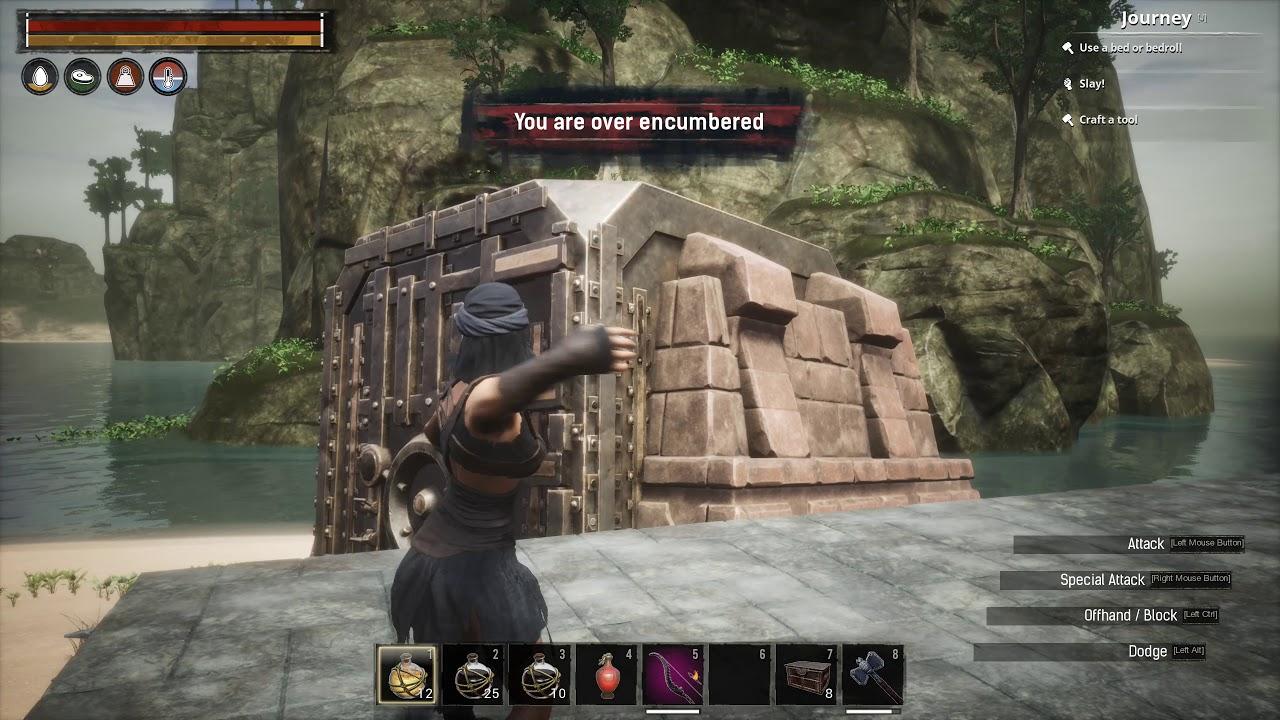 Conan Exiles building decay and destruction