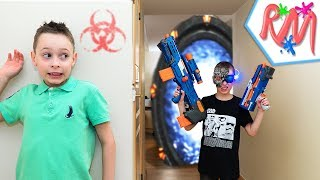 NERF WAR: iCyborg (Part 1) - The Day I Met My Future Self [ NERF Battle with NERF LONGSHOT CS-6 ]