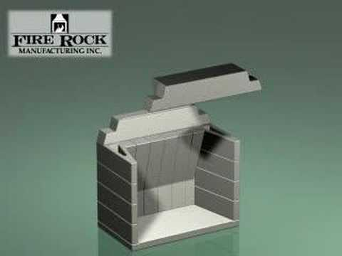 A masonry fireplace kit that assembles quickly and inexpensively to create a true masonry fireplace. The Fire Rock fireplace systems can be used with the Fir...