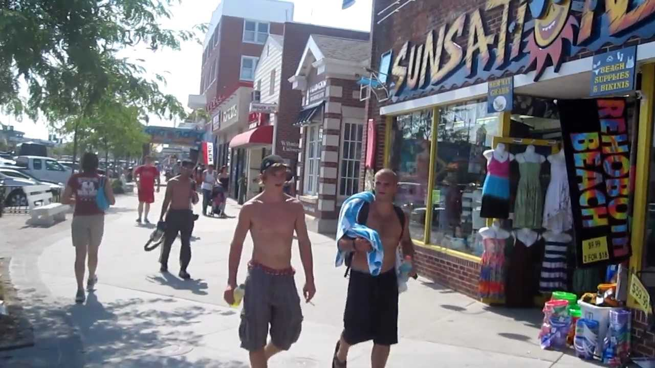 Walking Tour Rehoboth Beach Delaware Boardwalk On A Hot Summer Afternoon You