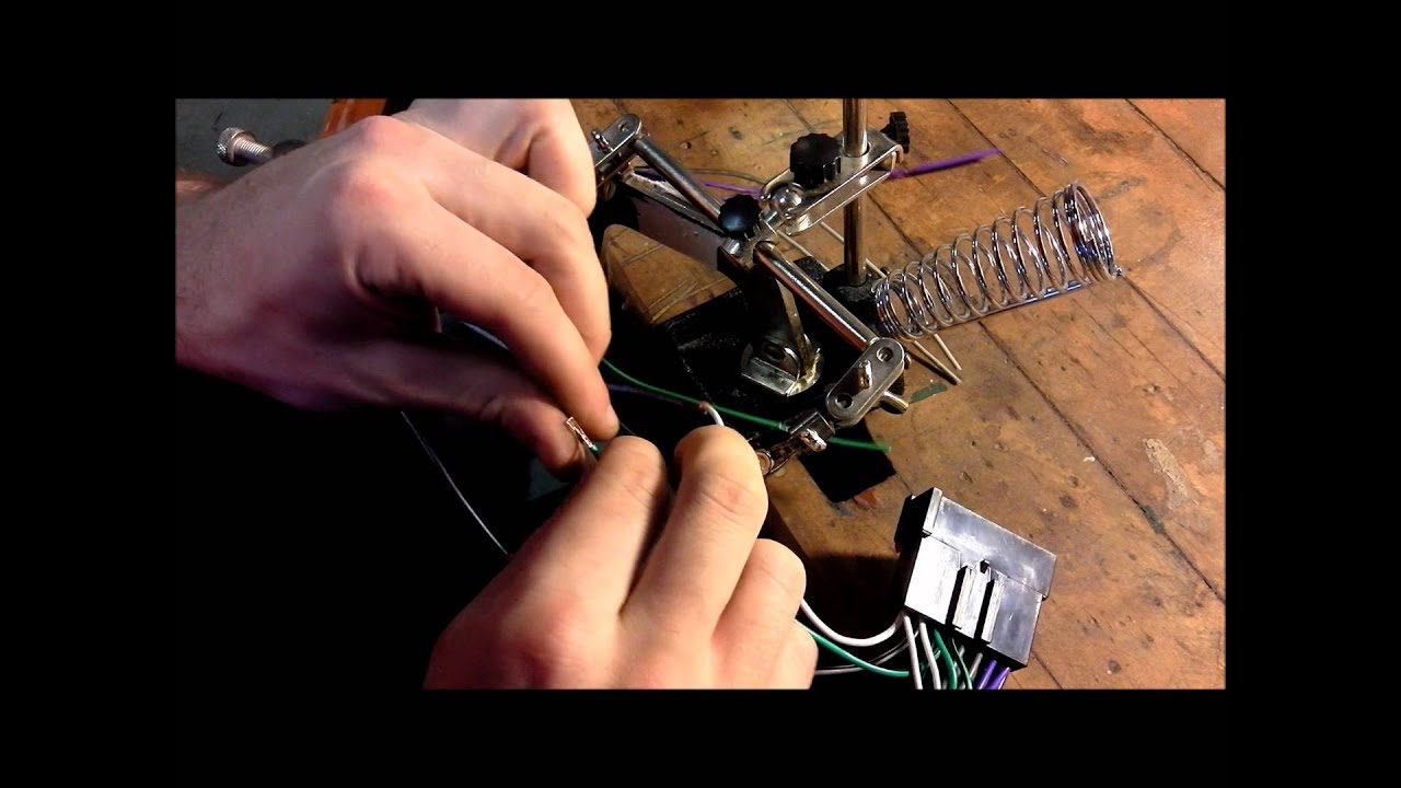 how to install a car stereo soldering the harness 1080p  [ 1280 x 720 Pixel ]