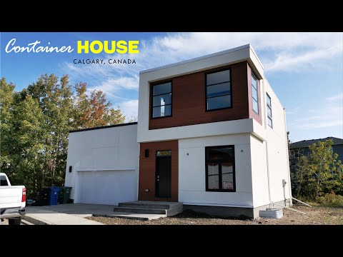 The First Shipping Container Family Home In Calgary, Canada