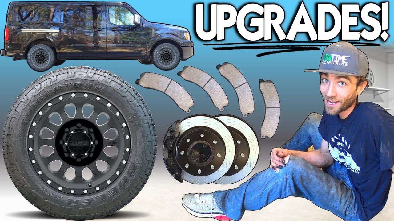 BIG UPGRADES For Bass Van Build w/ NEW Wheels BIGGER Tires & HEAVY DUTY Brake Install -EXO Car Audio