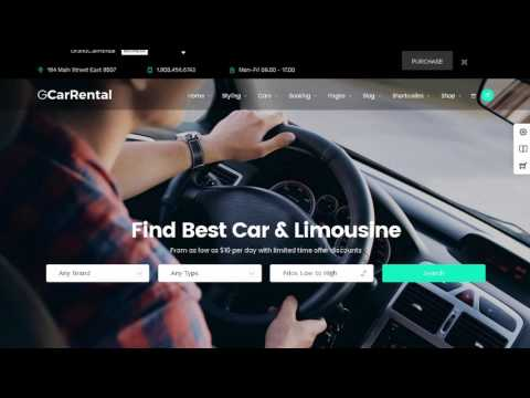 Grand Car Rental | Limousine Car Rental WordPress | Themeforest Download
