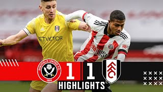 Sheffield United 1-1 Fulham | Premier League Highlights | Sharp earns point on Brewster debut.