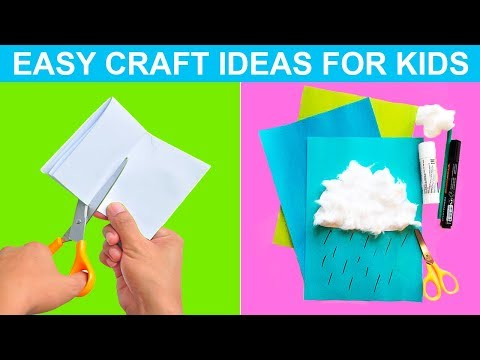 PAPER CRAFT FOR KIDS Moving Paper cloud for Kids