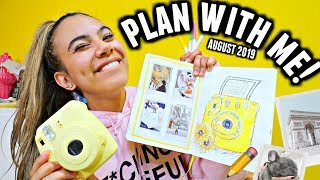 PLAN WITH ME! ✏️📅 | August 2019 Bullet Journal Setup (Polaroid/Travel Theme)