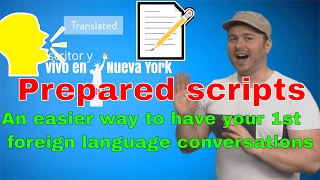 Prepared scripts📝 for having your first conversations in another language: #languagehacking quickie