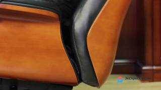 Обзор кресла руководителя 500 с деревом в спинке, подлокотниках и крестовине