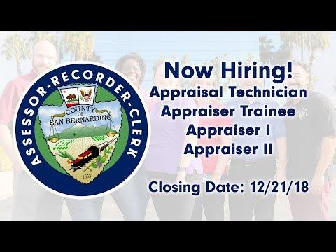 Now hiring Appraisers!