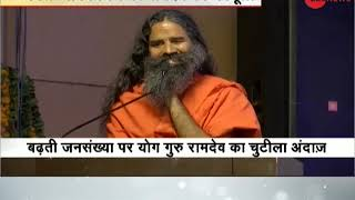 Baba Ramdev raises concern against rising population of India