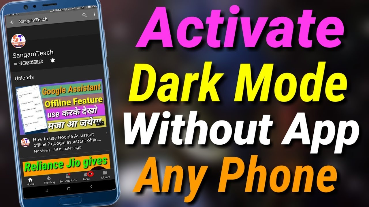 how to activate youtube dark mode mobile