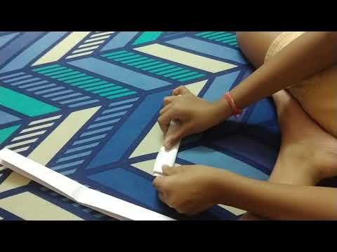 How to make paper boomerang.