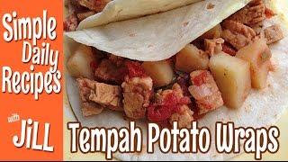 Tempeh Potato Wraps In The Instant Pot