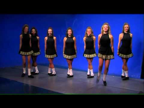 The ladies from Baffa Academy share some fancy footwork to celebrate St. Patrick`s Day