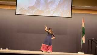 Solo dance performance on Bollywood songs