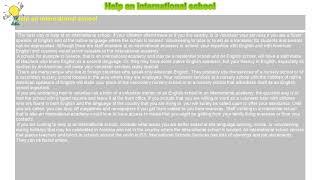 How to : Help an international school