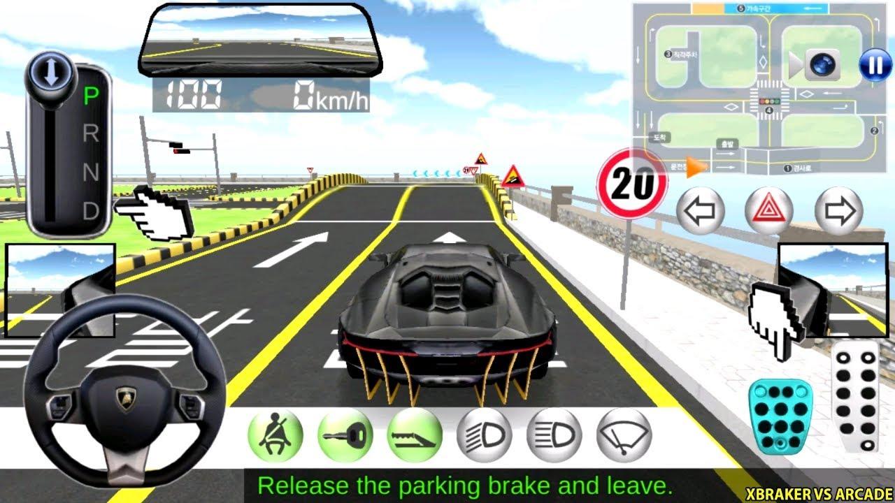 Korean Car Driving Simulator - #Lamborghini - Test Course - Driver's License Examination Gamepl