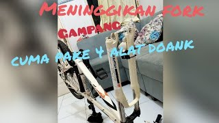 Download Tutorial meninggikan fork/ shock breaker sepeda XCR SUNTOUR