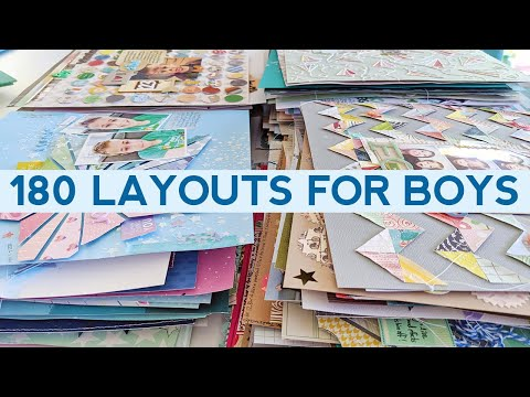 180 Scrapbook Layout Ideas For Boys