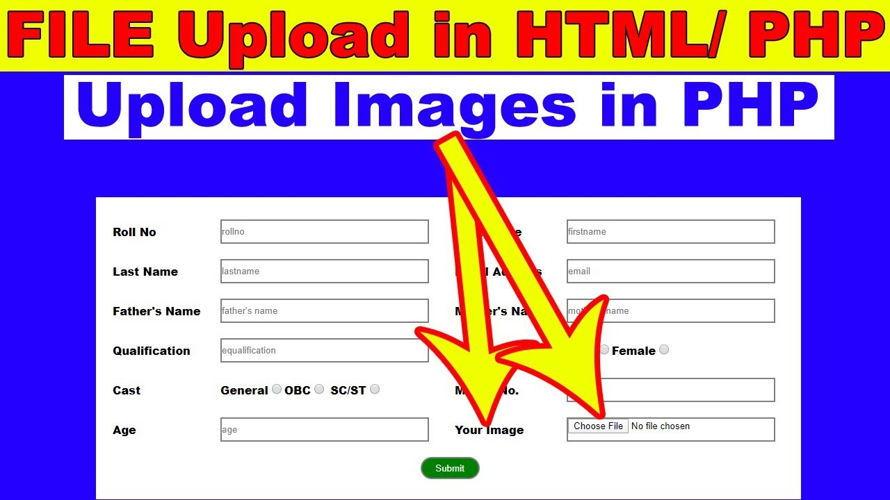 24. How to upload Files images in PHP, File upload in PHP, create dynamic gallery in php