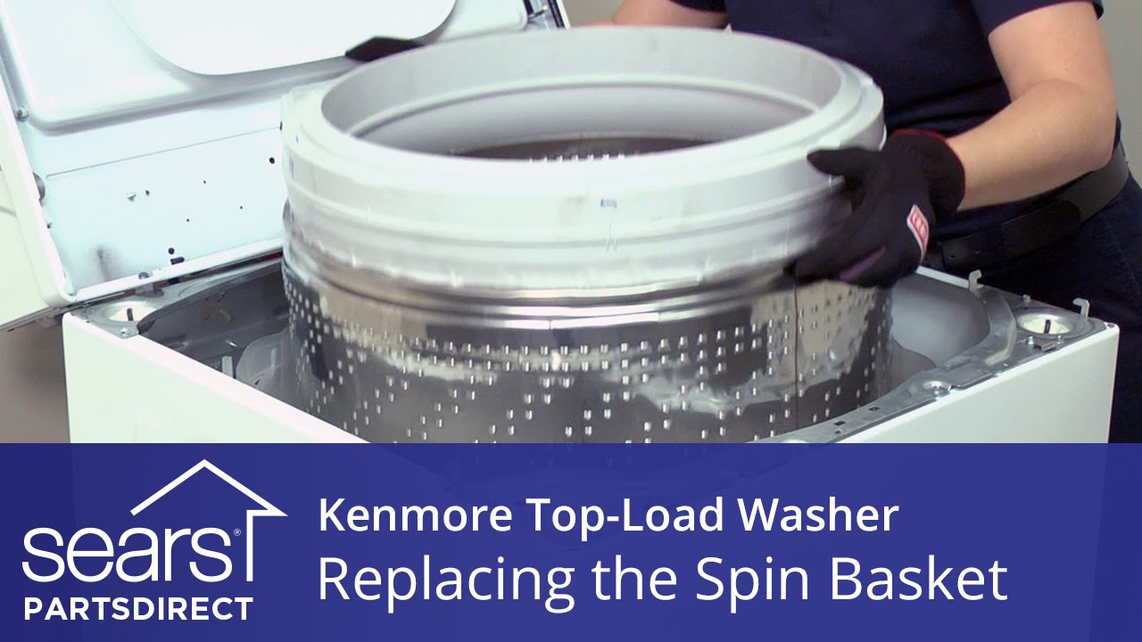 How to Replace the Spin Basket on a Kenmore Vertical Modular Washer  VMW   YouTube