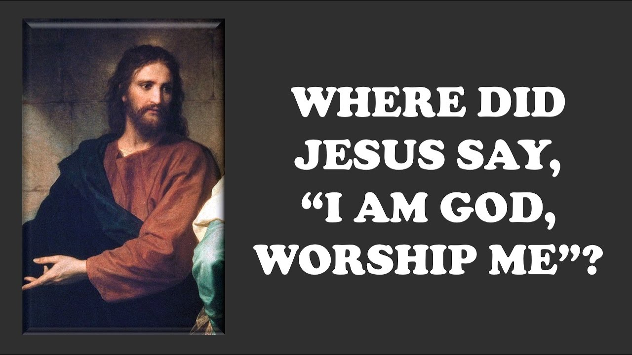 "Where Did Jesus Say, ""I Am God, Worship Me""? (David Wood)"