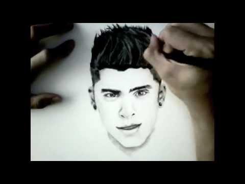 Zayn Malik Drawing Skills Portrait drawin...