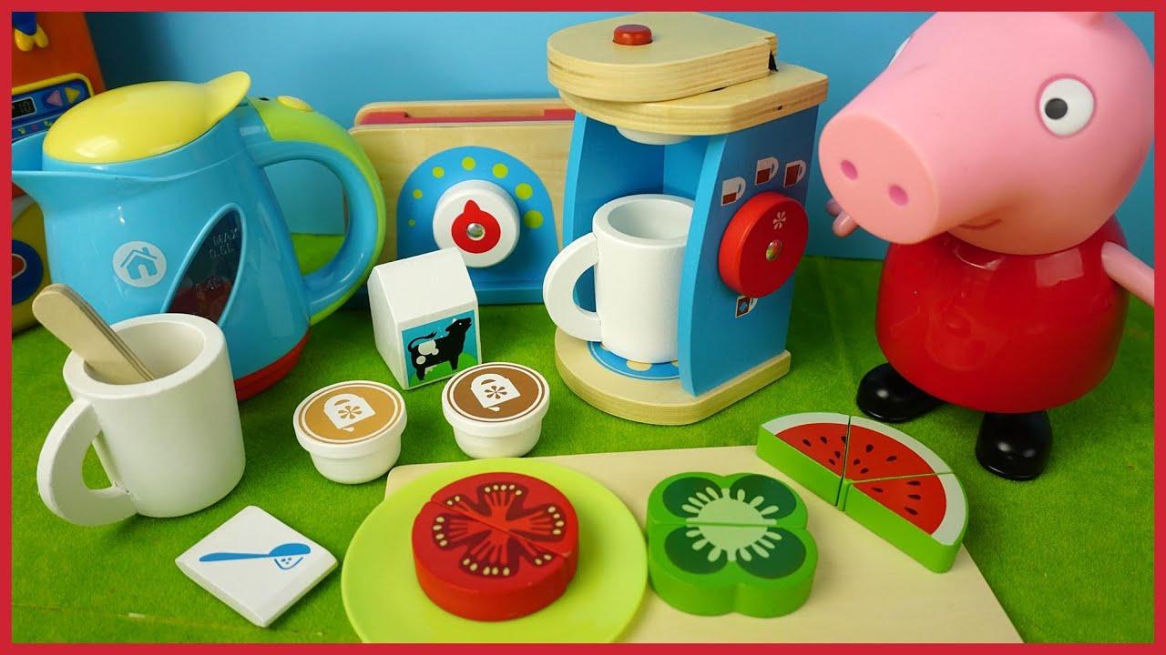 小猪佩奇佩佩豬的早餐咖啡機玩具