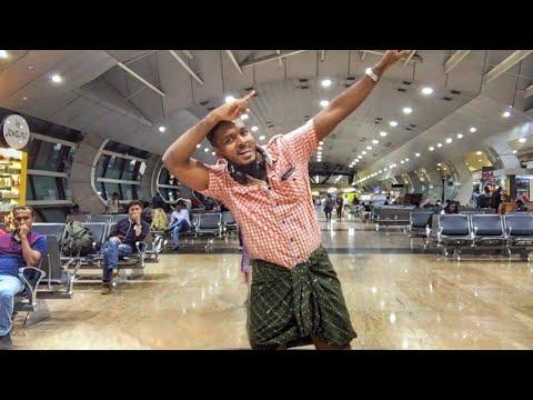 ✈️ FLIGHT ലുങ്കി CHALLENGE😱| AIRPORT | TRIVANDRUM to DELHI | KARTHiK SURYA