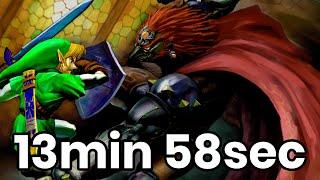 Speedrun Zelda Ocarina of Time : WR Defeat Ganon SRM en 13:58