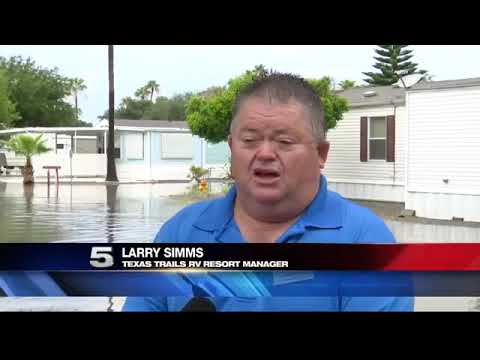 Closed Off Drainage System at Pharr RV Park Aggravates Residents with Flooding