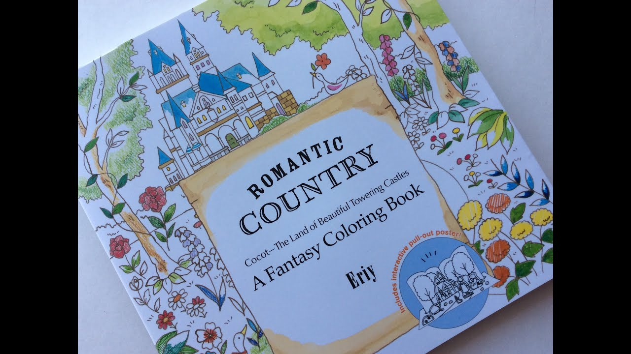 Romantic Country Eriy Colouring Book Share Flip Review