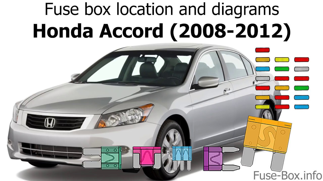 fuse box location and diagrams: honda accord (2008-2012) - youtube  youtube